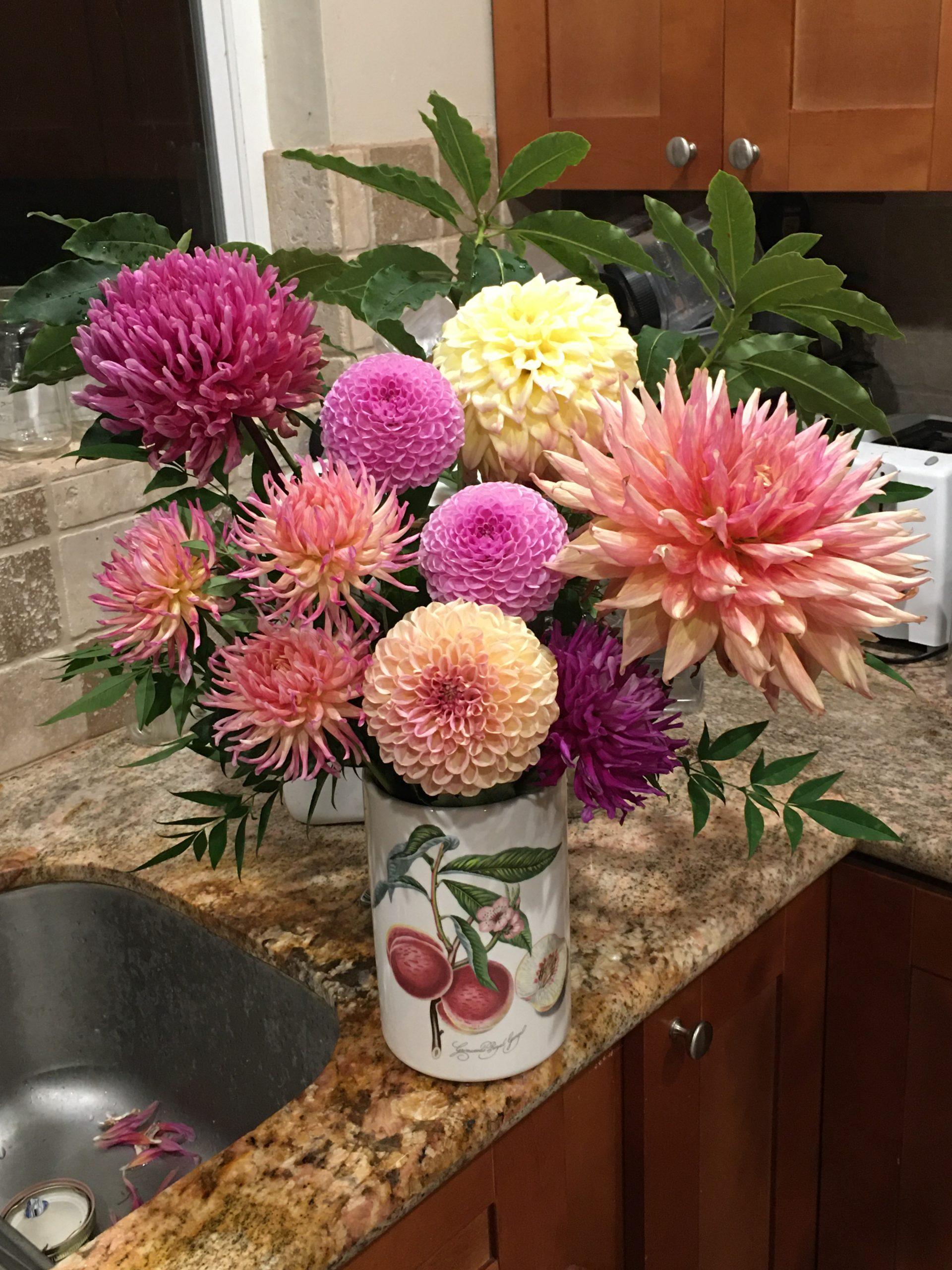 9901-Peach & Plum Bouquet-Sue Gregori